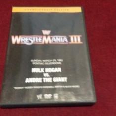 FILM DVD WRESTLEMANIA III HULK HOGAN VS ANDRE THE GIANT 1987, Romana