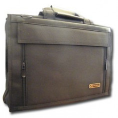 Geanta laptop textil, Piele sintetica, Negru