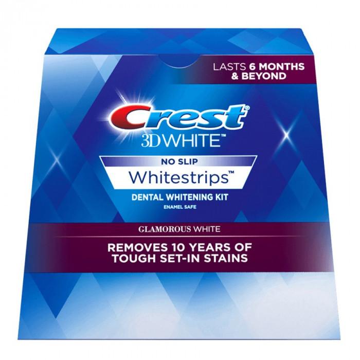 Albirea Dintilor cu Crest Whitestrips 3D Glamorous White - CUTIE 28 BENZI