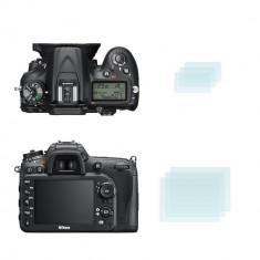 Folie protectie ecran Nikon D7200/D7100 ptr. ambele ecrane - Accesoriu Protectie Foto