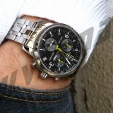 Ceas barbatesc Tissot PRC200 Clasic Cadran negru, Casual, Quartz, Inox, Cronograf, Analog