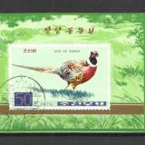 KOREA DE NORD 1976--BLOK --FAZANI - Timbre straine, Stampilat