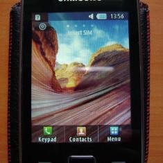 Samsung Star 3 S5220 + Accesorii - Telefon mobil Samsung Star S5230, Negru, Orange