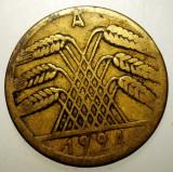 7.977 GERMANIA WEIMAR 10 RENTENPFENNIG 1924 A, Europa, Bronz-Aluminiu