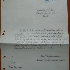Document Mihail Dragomirescu, Presedintele Societatii Scriitorilor Romani - Autograf