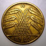 7.974 GERMANIA WEIMAR 10 REICHSPFENNIG 1925 A, Europa, Bronz-Aluminiu