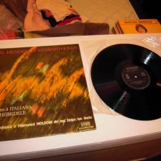 Disc VINIL ELECTRECORD: FELIX MENDELSOHN BARTHOLDY - Simfonia nr. 4 Italiana - Muzica Clasica