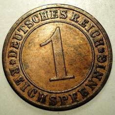 B.120 GERMANIA WEIMAR 1 REICHSPFENNIG 1930 A, Europa, Bronz