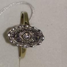Superb Inel Din Aur Cu Briliant Anii 1900 - Inel diamant, Carataj aur: 14k, Culoare: Alb