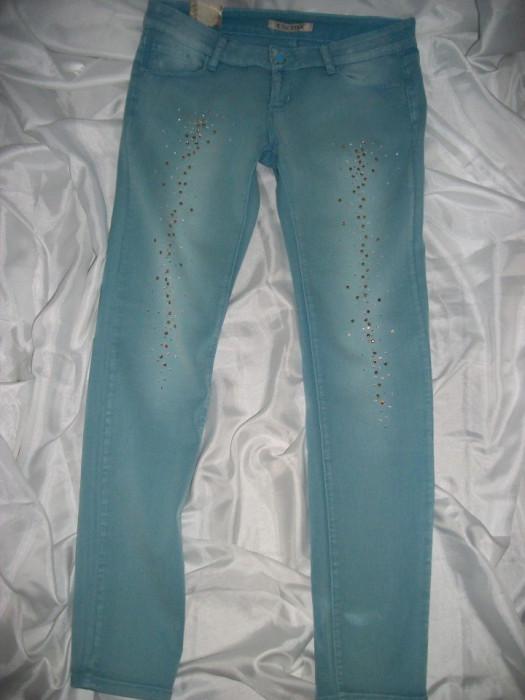 Blue jeans dama , culoare albastru deschis foto mare