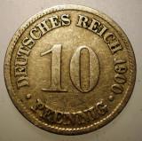 B.314 GERMANIA 10 PFENNIG 1900 D, Europa, Cupru-Nichel