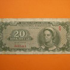 20 LEI 1950 - Bancnota romaneasca