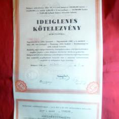 Bilet la Ordin temporar , la purtator -Actiune 1946 -480 koroane-Ungaria