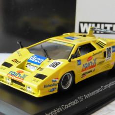 Macheta Lamborghini Countach XXV Anniversario - 1994 WHITE BOX scara 1:43 - Macheta auto
