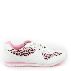 Pantofi sport dama Melda 2 albi cu roz - Accesorii golf