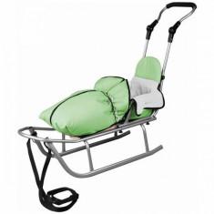 Sanie Baby Dreams Rider Plus cu Sac de iarna Speedy Color verde