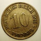 B.459 GERMANIA 10 PFENNIG 1910 A, Europa, Cupru-Nichel