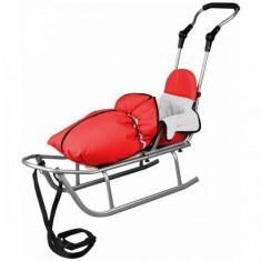 Sanie Baby Dreams Rider Plus cu Sac de iarna Speedy Color rosu
