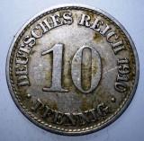 B.575 GERMANIA 10 PFENNIG 1910 A, Europa, Cupru-Nichel