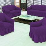Set huse canapea 3 locuri si 2 fotolii 3+1+1 Culoare Mov - Cuvertura pat