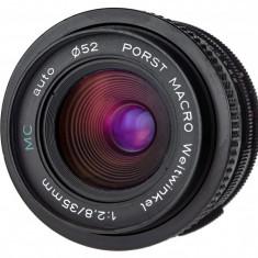 M42 Porst MC 35mm F2.8 Macro sn 32 - Obiectiv DSLR Porst, Wide (grandangular), Manual focus, Nikon FX/DX