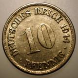 B.289 GERMANIA 10 PFENNIG 1914 F, Europa, Cupru-Nichel