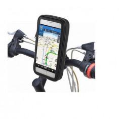 Suport de telefon pentru bicicleta cu husa rezistenta la intemperii, negru - Suport auto