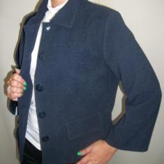 Sacou casual, bleumarin, buzunare cu clape - Sacou dama