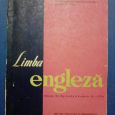Manual de limba engleza cl. X anul V 1966 / R1F - Manual scolar Altele, Clasa 10, Didactica si Pedagogica, Limbi straine