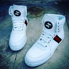 Ghete Gucci 43-44 - Adidasi barbati Gucci, Culoare: Alb