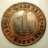 B.123 GERMANIA WEIMAR 1 REICHSPFENNIG 1931 A, Europa, Bronz