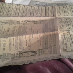 OBLIGATIUNE DE 100 LEI AUR 1903 ORASULUI BUCURESCI ANEXA 30 CUPOANE