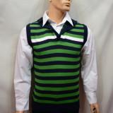 Vesta moderna pentru barbati, de culoare verde-negru, imprimeu geometric - Vesta barbati