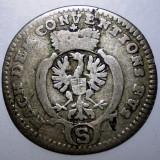A.147 GERMANIA BRANDENBURG ANSBACH 2 1/2 KREUZER 1774 BILLON 0, 95g - Moneda Medievala, Europa