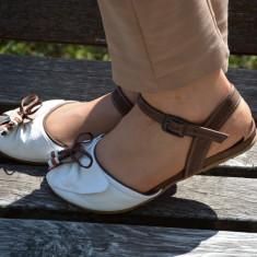 Sandale fara toc, de vara, din piele in diverse nuante - Sandale dama