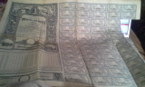 IMPRUMUTUL REINTREGIRII  DIN 1941 TITLU DE 5000 LEI CU 50 CUPOANE ANEXA