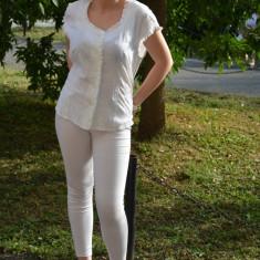 Camasa de vara, din bumbac, de culoare alba sau ivory - Camasa dama