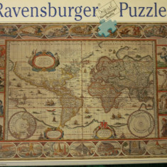 Ravensburger PUZZLE 2000 piese, size ca. 98 x 75 cm, No. 166336 Made in Germany, Carton, 2D (plan)