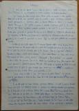 Intampinare scrisa olograf si semnata de Dinu Sararu si Paul Everac