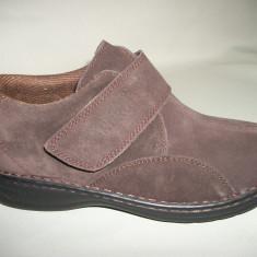 Pantof cu scai, nuanta de maro, piele naturala intoarsa