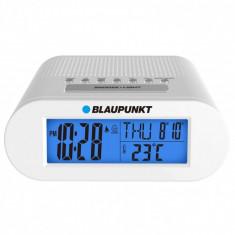 Ceas desteptator cu radio si termometru, Blaupunkt CR3WH, alb - Radio cu ceas