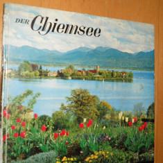 DER CHIEMSEE - SEINE INSELN UND BERGE - R.M.PRIEN - CARTE IN LIMBA GERMANA - Carte in germana