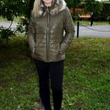 Jacheta tinereasca de primavara, toamna, nuanta kaki, din fas usor