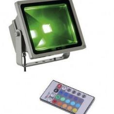 Proiector cu LED RGB color 30W si telecomanda