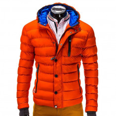 Geaca barbati WINTER c124 portocaliu, Marime: XXL, Culoare: Orange, Bumbac