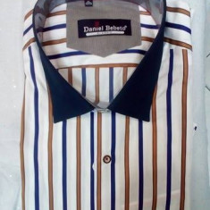 Camasa de barbati, cu dungi, din bumbac de calitate - Camasa barbati, Maneca lunga, Multicolor