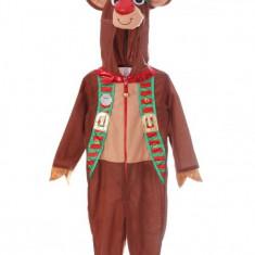 Costum Craciun Copii Cerb, 104 cm - Costum Mos Craciun