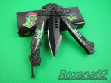BRICEAG CUTIT BUTTERFLY BALISONG. BRICEAG FLUTURAS. American butterfly ZOMBIE, Cutit tactic