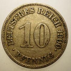 B.453 GERMANIA 10 PFENNIG 1900 E, Europa, Cupru-Nichel