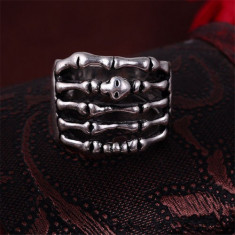 Inel inox Punk Bones model 5